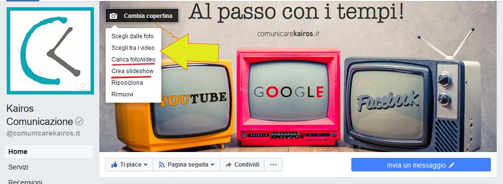 video copertina facebook